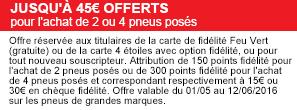 45€ offerts