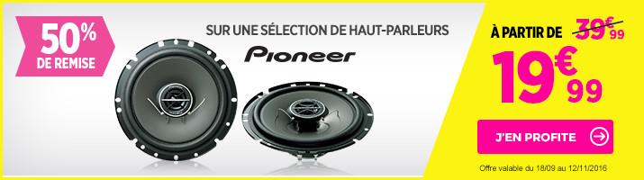 50% de remise sur les haut-parleurs Pioneer