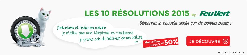 les 10 résolutions pour 2015