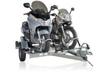 Remorque voiture transport porte moto pas ch re feu vert - Porte moto 1 rail erde pm 310 ...