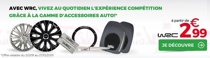 gamme d'accessoires auto WRC