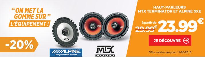 promotion haut parleurs voiture MTX