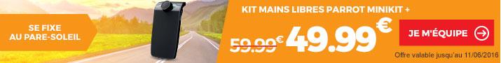 Promotion kit mains libre PARROT Minikit + chez FEU VERT