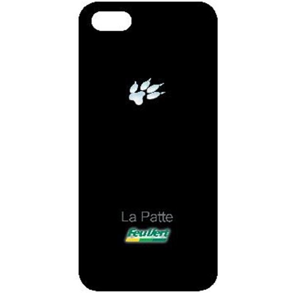 Coque iPhone 5 patte de chat Feu Vert
