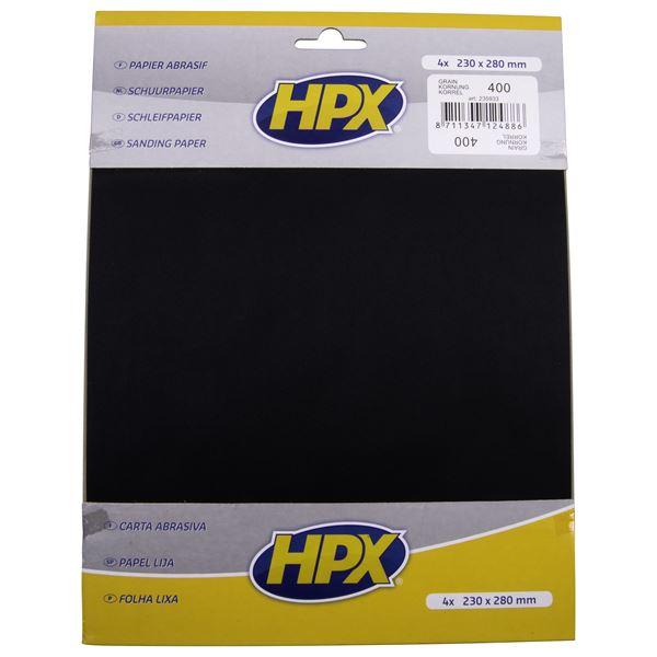 papier abrasif eau hpx p400 x 4 feu vert. Black Bedroom Furniture Sets. Home Design Ideas