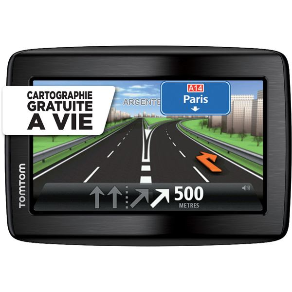 gps tomtom via 130 m cartographie gratuite vie et housse. Black Bedroom Furniture Sets. Home Design Ideas