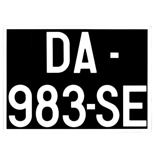 plaque immatriculation reflexion collection noire alu 275. Black Bedroom Furniture Sets. Home Design Ideas