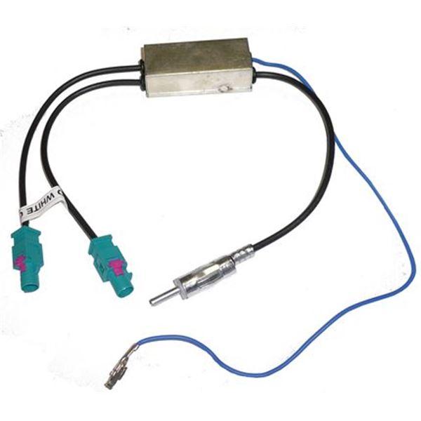 Adaptateur d 39 antenne 2 fakra 1 din pour peugeot 407 et for Antenne autoradio interieur
