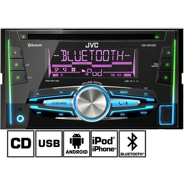 autoradio bluetooth jvc kw r910bte feu vert. Black Bedroom Furniture Sets. Home Design Ideas