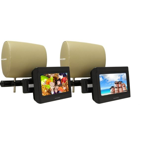 2 lecteurs dvd portable 2 crans 7 pouces 17 8cm feu vert. Black Bedroom Furniture Sets. Home Design Ideas