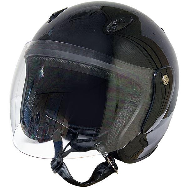 casque moto jet eole noir verni taille xl 61 cm feu vert. Black Bedroom Furniture Sets. Home Design Ideas