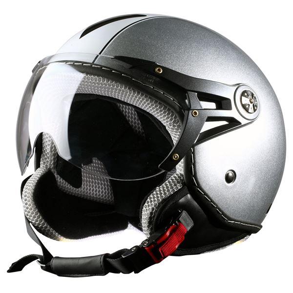 casque moto jet d cor eole one way silver taille xl 61 cm feu vert. Black Bedroom Furniture Sets. Home Design Ideas