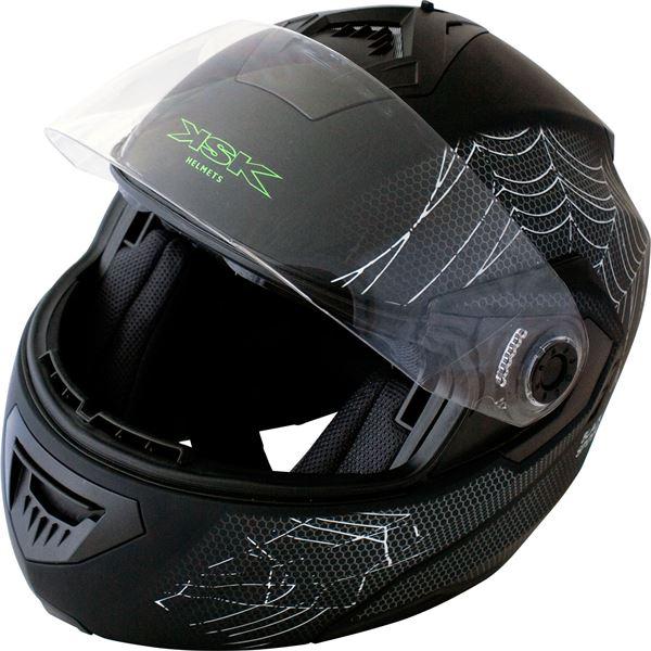 casque moto modulable black spider noir mat ksk taille l feu vert. Black Bedroom Furniture Sets. Home Design Ideas