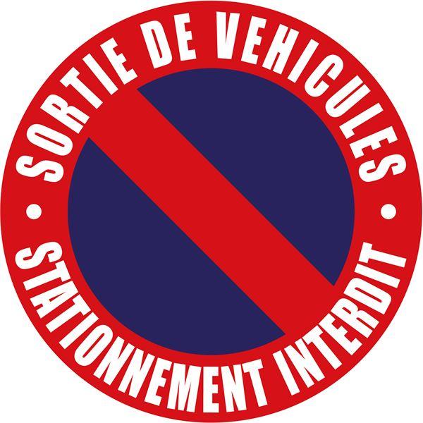 Disque sortie de v hicules et stationnement interdit for Panneau d interdiction de stationner devant un garage