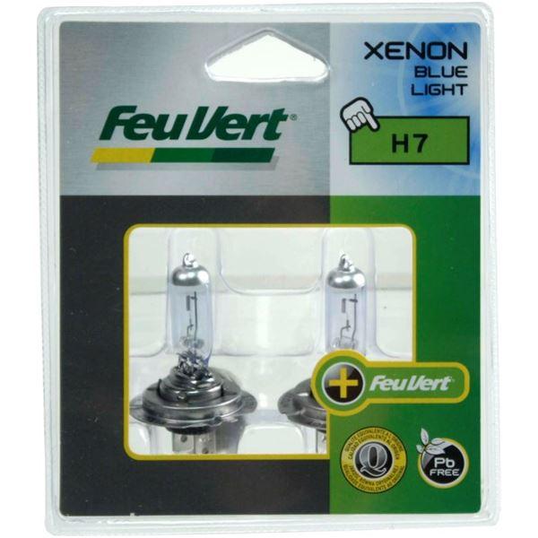 2 ampoules h7 xenon blue light feu vert feu vert. Black Bedroom Furniture Sets. Home Design Ideas