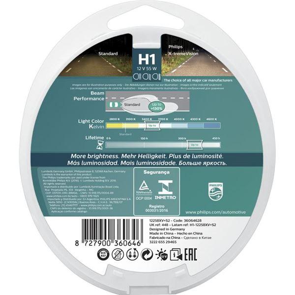 2 ampoules philips premium x treme vision h1 feu vert. Black Bedroom Furniture Sets. Home Design Ideas
