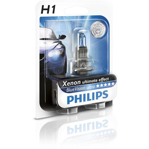 1 ampoule philips premium white vision h1 feu vert. Black Bedroom Furniture Sets. Home Design Ideas