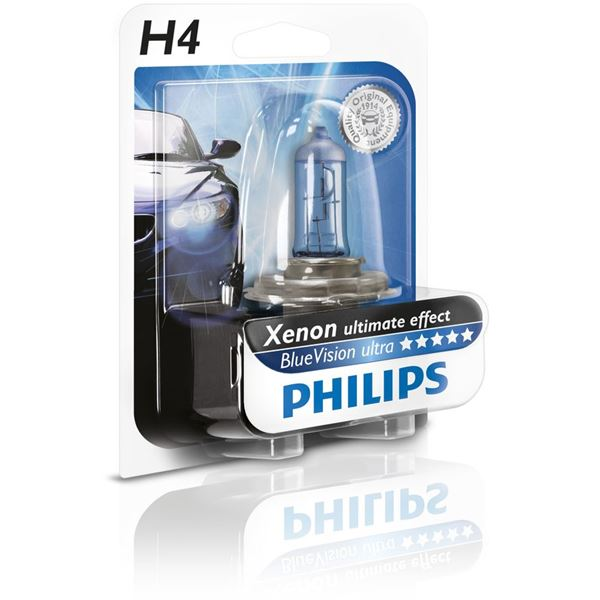 ampoule philips blue vision ultra h4 feu vert. Black Bedroom Furniture Sets. Home Design Ideas