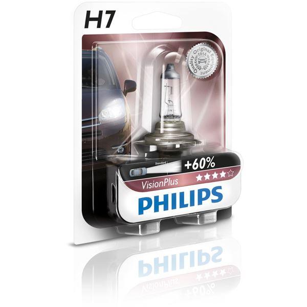 ampoule philips vision plus 60 h7 feu vert. Black Bedroom Furniture Sets. Home Design Ideas
