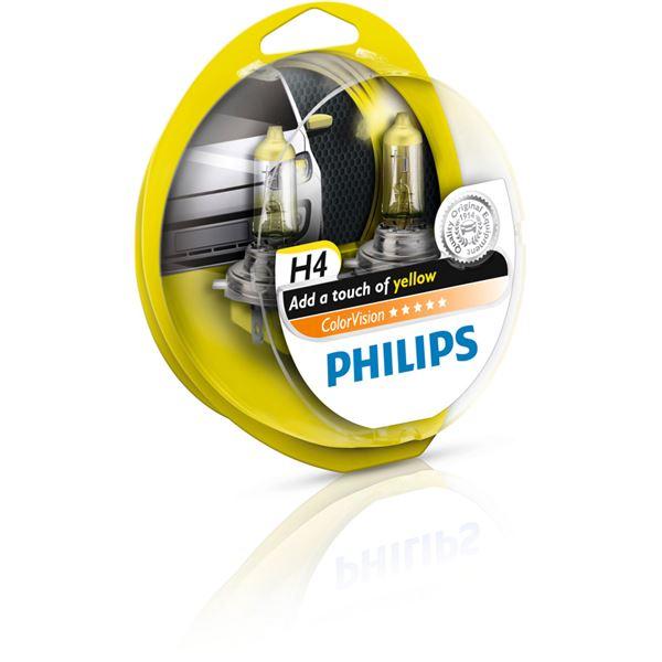 2 ampoules philips colorvision h7 de couleur jaune feu vert. Black Bedroom Furniture Sets. Home Design Ideas