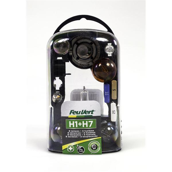 coffret d 39 ampoules h1 h7 feu vert feu vert. Black Bedroom Furniture Sets. Home Design Ideas