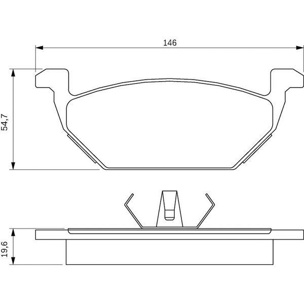 4 plaquettes de frein avant bosch bp175 feu vert. Black Bedroom Furniture Sets. Home Design Ideas