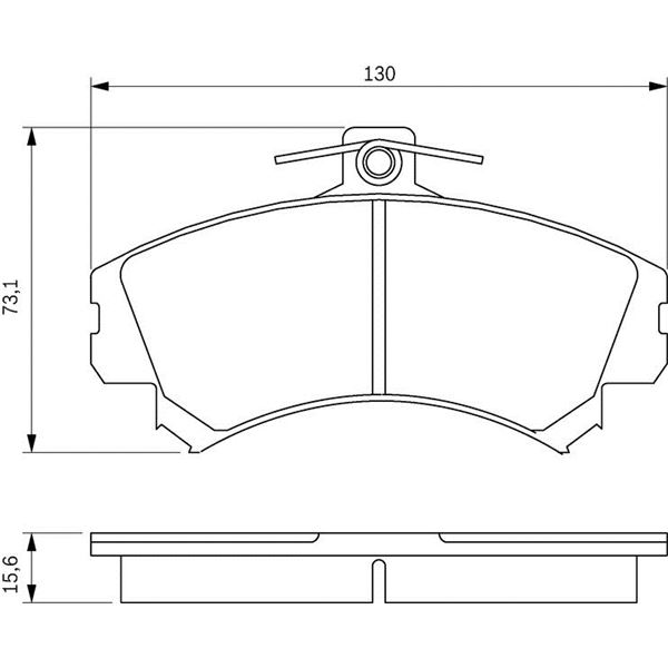 4 plaquettes de frein avant bosch bp182 feu vert. Black Bedroom Furniture Sets. Home Design Ideas