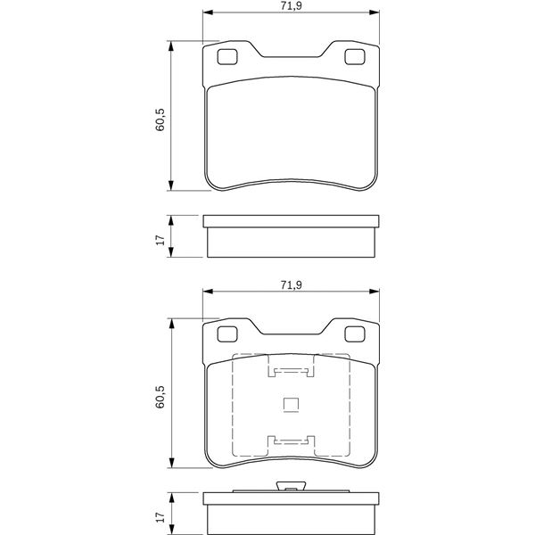 4 plaquettes de frein avant bosch bp201 feu vert. Black Bedroom Furniture Sets. Home Design Ideas