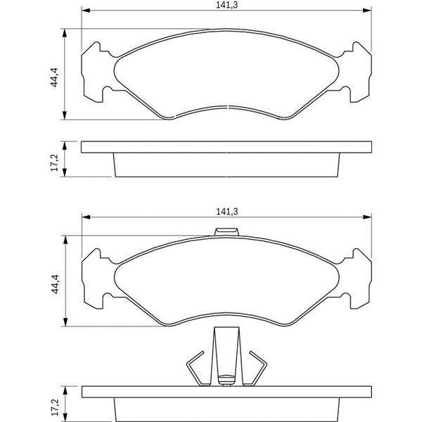 plaquette de frein bosch test bosch plaquettes de freins. Black Bedroom Furniture Sets. Home Design Ideas