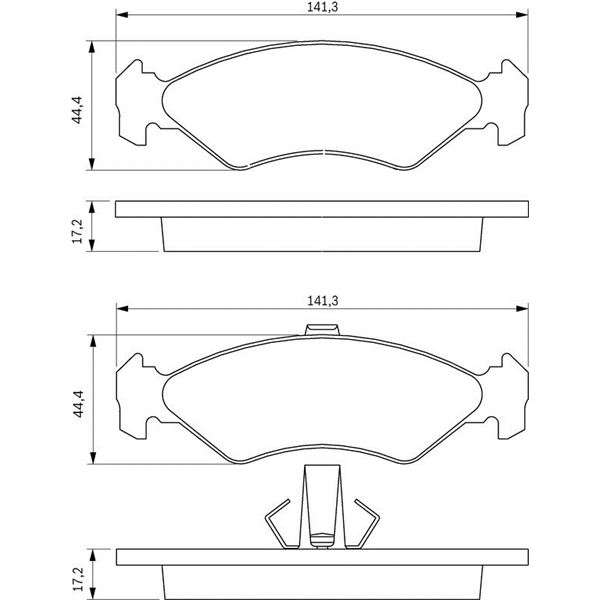 4 plaquettes de frein avant bosch bp206 feu vert. Black Bedroom Furniture Sets. Home Design Ideas