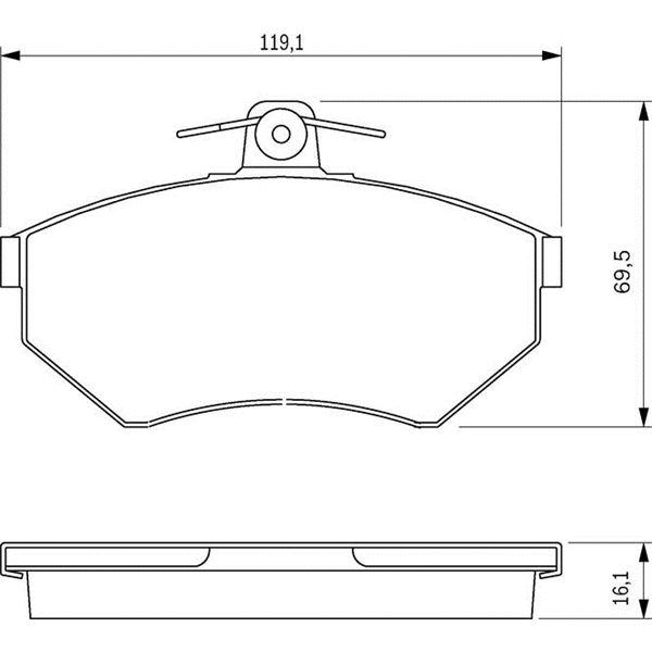 4 plaquettes de frein avant bosch bp237 feu vert. Black Bedroom Furniture Sets. Home Design Ideas