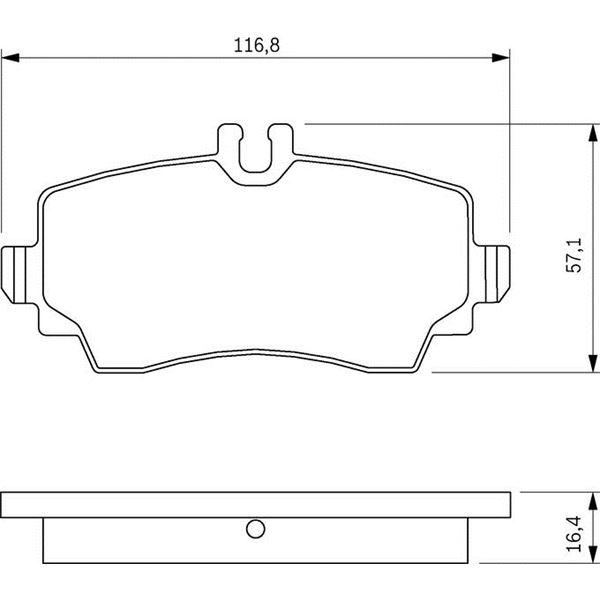 4 plaquettes de frein avant bosch bp238 feu vert. Black Bedroom Furniture Sets. Home Design Ideas