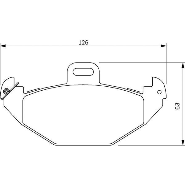 4 plaquettes de frein arri re bosch bp285 feu vert. Black Bedroom Furniture Sets. Home Design Ideas