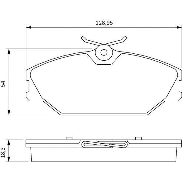 4 plaquettes de frein avant bosch bp286 feu vert. Black Bedroom Furniture Sets. Home Design Ideas