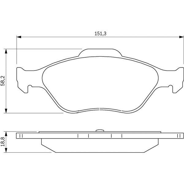 4 plaquettes de frein avant bosch bp306 feu vert. Black Bedroom Furniture Sets. Home Design Ideas