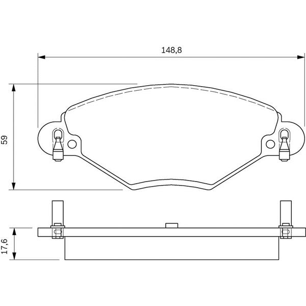 4 plaquettes de frein avant bosch bp328 feu vert. Black Bedroom Furniture Sets. Home Design Ideas