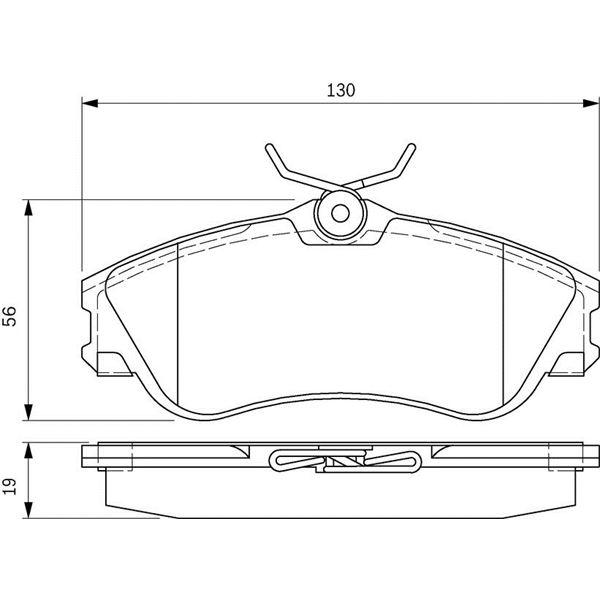 4 plaquettes de frein avant bosch bp329 feu vert. Black Bedroom Furniture Sets. Home Design Ideas