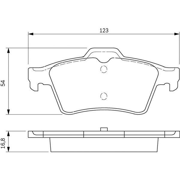 4 plaquettes de frein arri re bosch bp346 feu vert. Black Bedroom Furniture Sets. Home Design Ideas