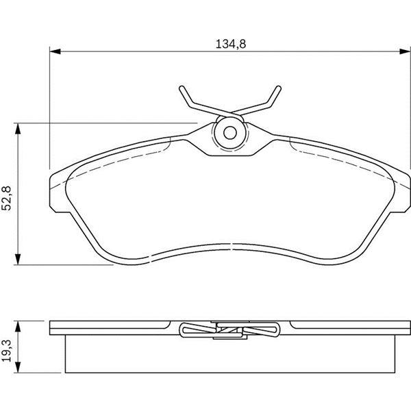 4 plaquettes de frein avant bosch bp354 feu vert. Black Bedroom Furniture Sets. Home Design Ideas