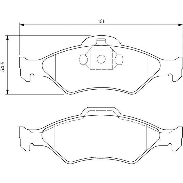 4 plaquettes de frein avant bosch bp362 feu vert. Black Bedroom Furniture Sets. Home Design Ideas