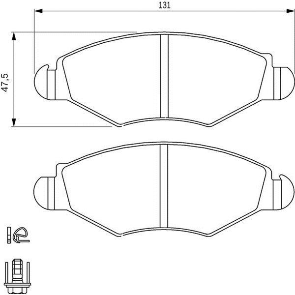 4 plaquettes de frein avant bosch bp376 feu vert. Black Bedroom Furniture Sets. Home Design Ideas