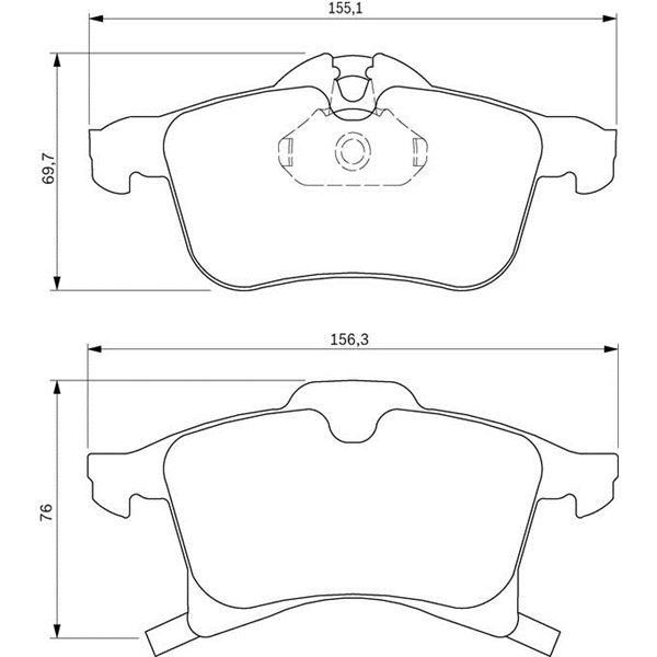 4 plaquettes de frein avant bosch bp420 feu vert. Black Bedroom Furniture Sets. Home Design Ideas