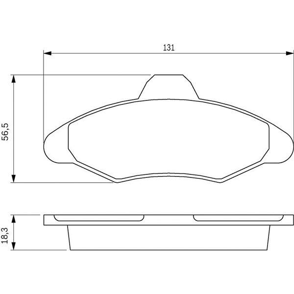 jeu de 4 plaquettes de frein avant bosch bp518 feu vert. Black Bedroom Furniture Sets. Home Design Ideas