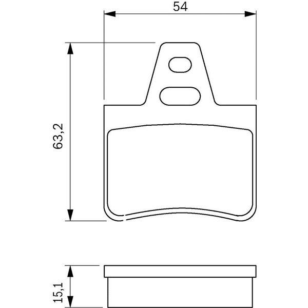 4 plaquettes de frein arri re bosch bp527 feu vert. Black Bedroom Furniture Sets. Home Design Ideas