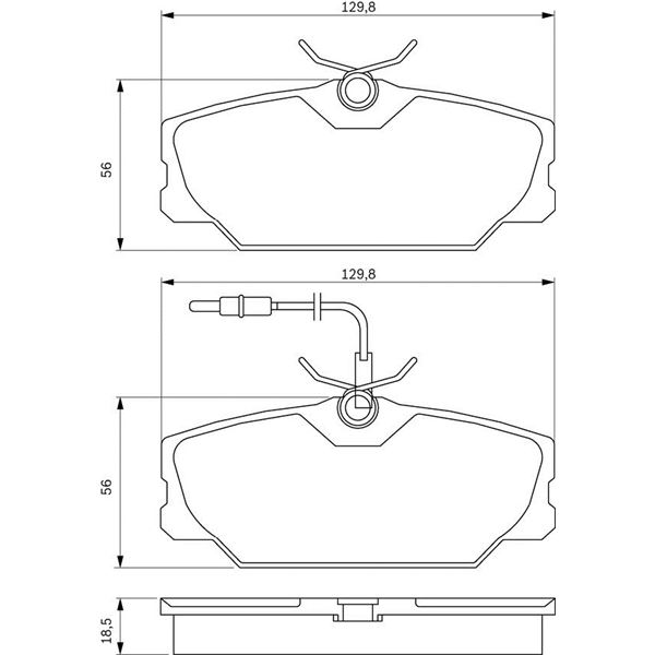 4 plaquettes de frein avant bosch bp613 feu vert. Black Bedroom Furniture Sets. Home Design Ideas