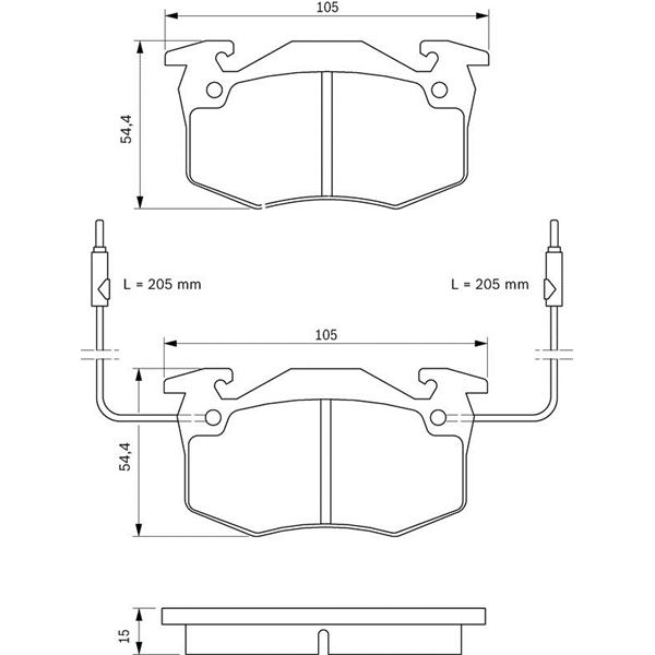 4 plaquettes de frein avant bosch bp682 feu vert. Black Bedroom Furniture Sets. Home Design Ideas