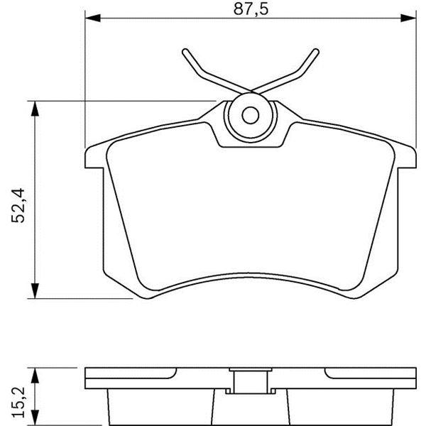 4 plaquettes de frein arri re bosch bp689 feu vert. Black Bedroom Furniture Sets. Home Design Ideas