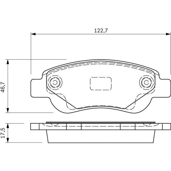 4 plaquettes de frein avant bosch bp975 feu vert. Black Bedroom Furniture Sets. Home Design Ideas