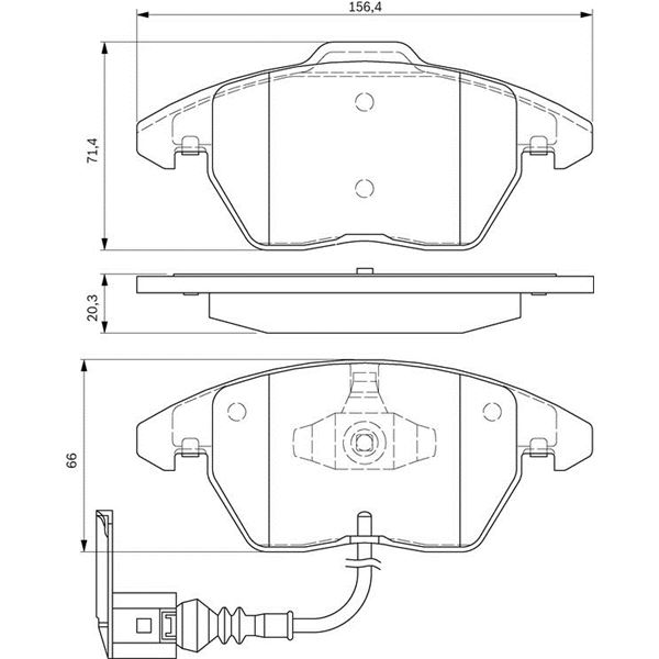 4 plaquettes de frein avant bosch bp938 feu vert. Black Bedroom Furniture Sets. Home Design Ideas