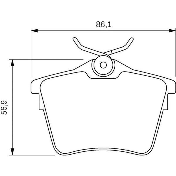 4 plaquettes de frein arri re bosch bp1005 feu vert. Black Bedroom Furniture Sets. Home Design Ideas